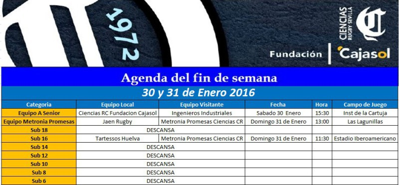 agenda 30 enero