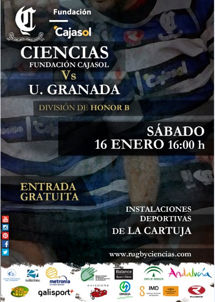cartel CIENCIAS RUGBY vs GRANADA
