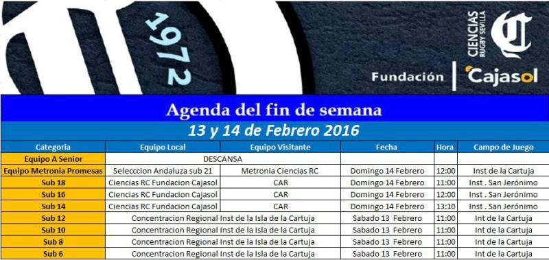 agenda dia 13-2-16