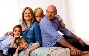 Eduardo Cecilia en familia