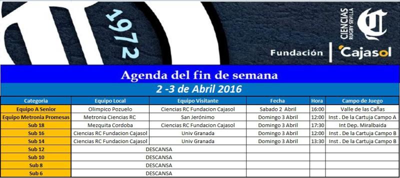 Agenda Rugby Sevilla Ciencias