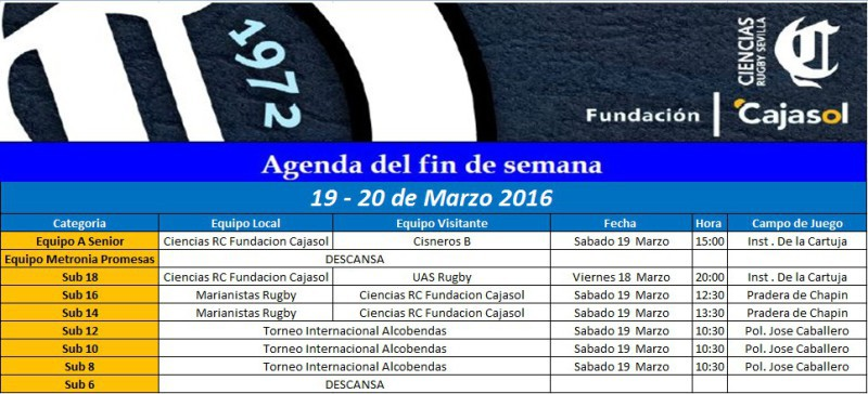 agenda rugby sevilla