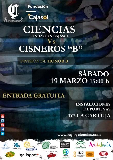 CIENCIAS VS CISNEROS B (cartel de C.Benito)