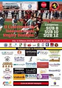 Cartel II Convivencia Internacional Rugby Badajoz